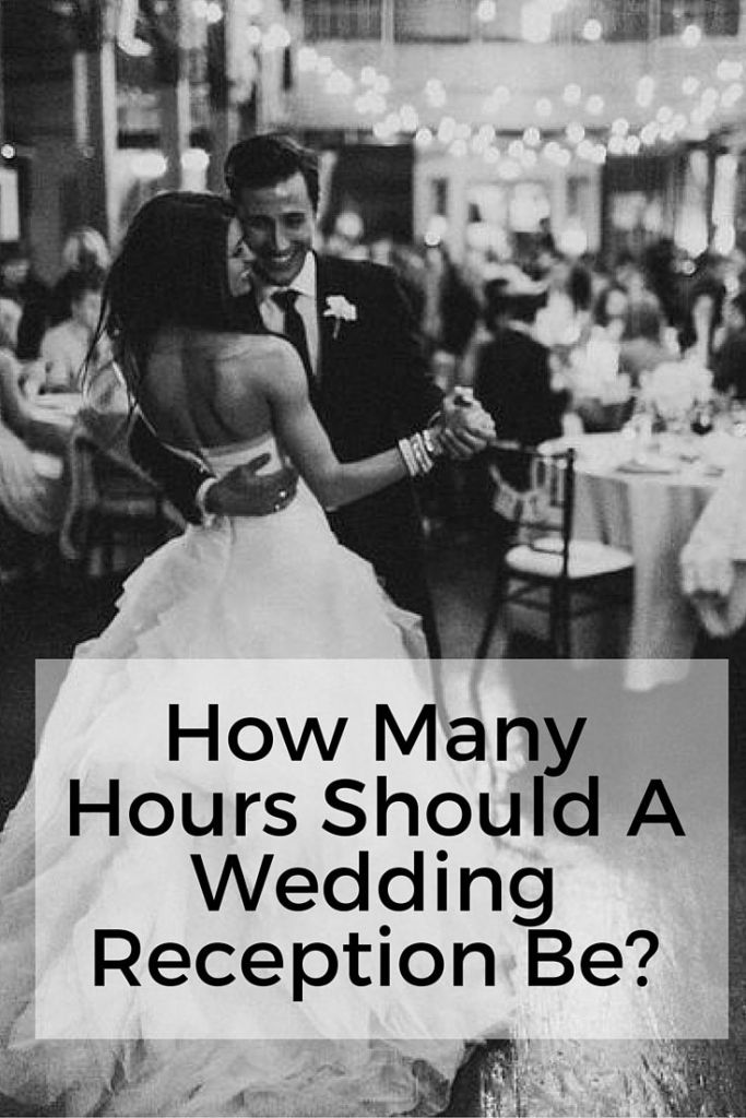how long should a wedding reception be