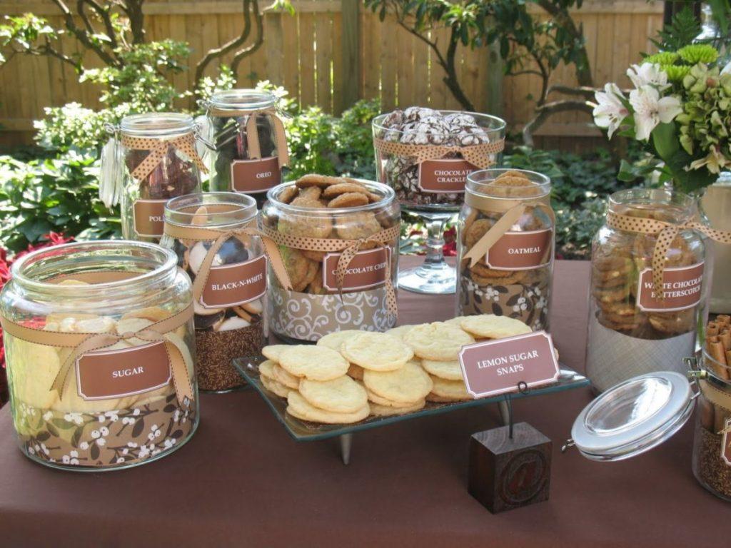 Cookie Bar Wedding Reception