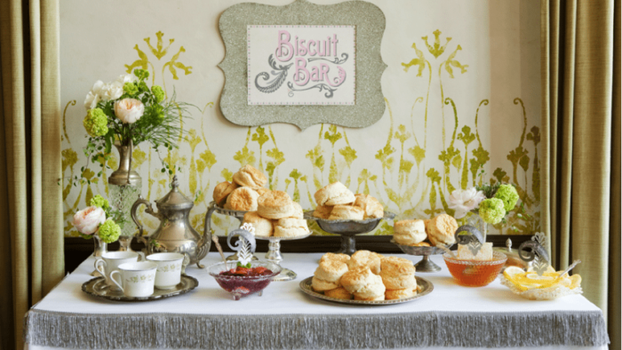 Biscuit Wedding Reception Food Bar