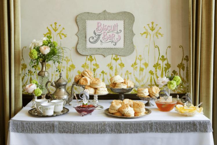 Biscuit Wedding Reception Food Bar