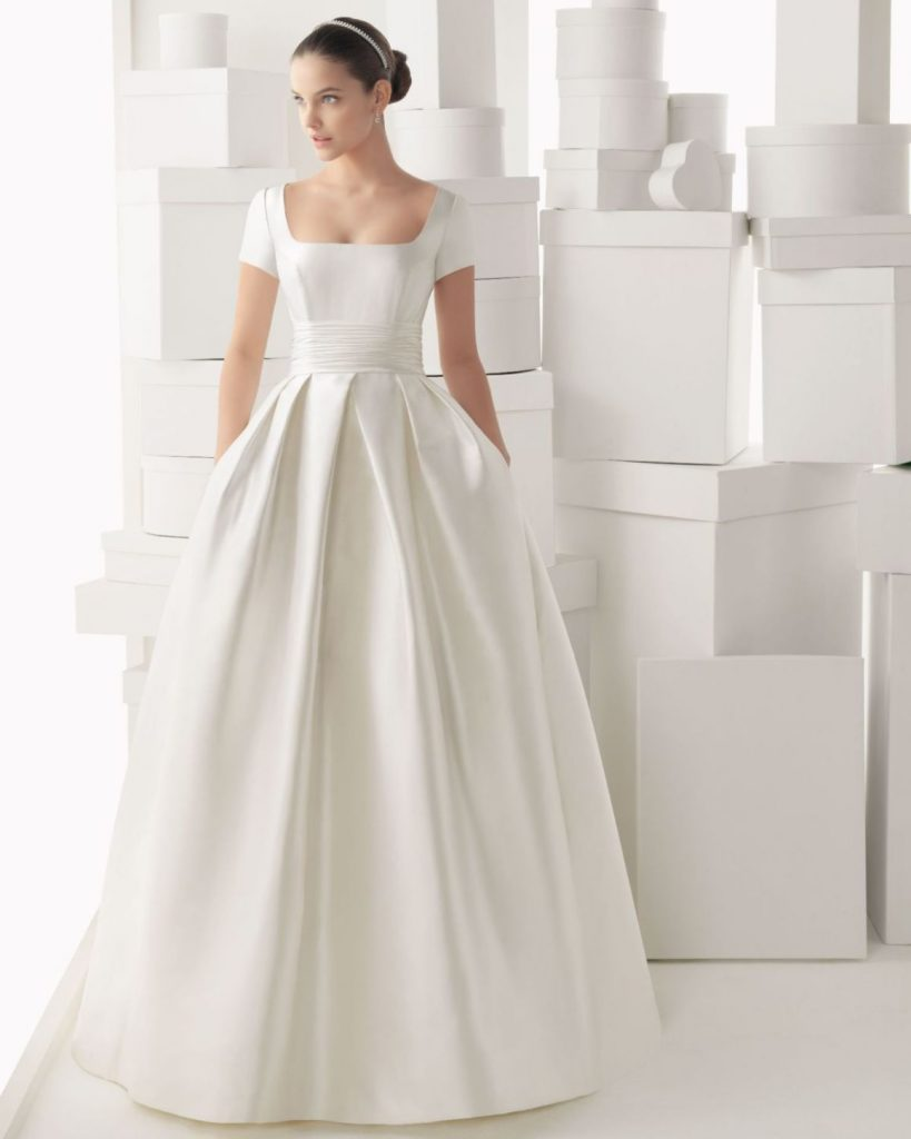 Satin Fall Wedding Gown