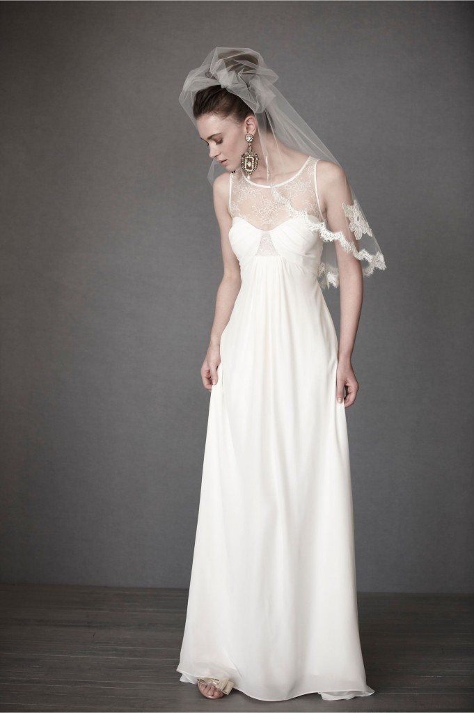 Silk Fall Wedding Dress