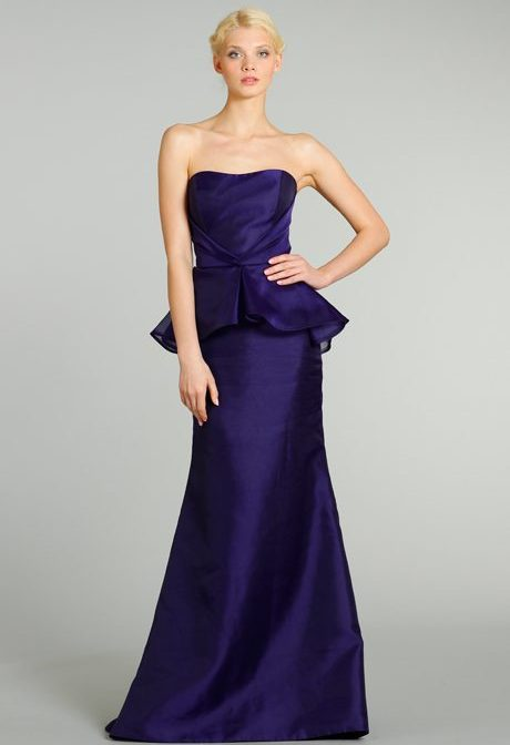 Full Length Navy Blue Bridesmaids Gowns