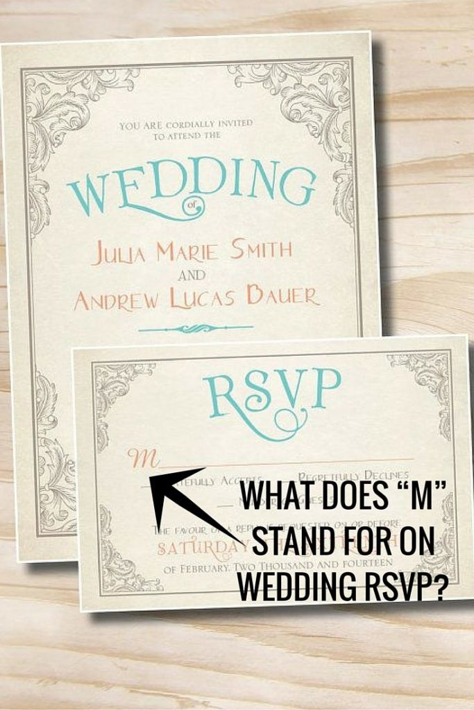 what does m stand for on wedding rsvp
