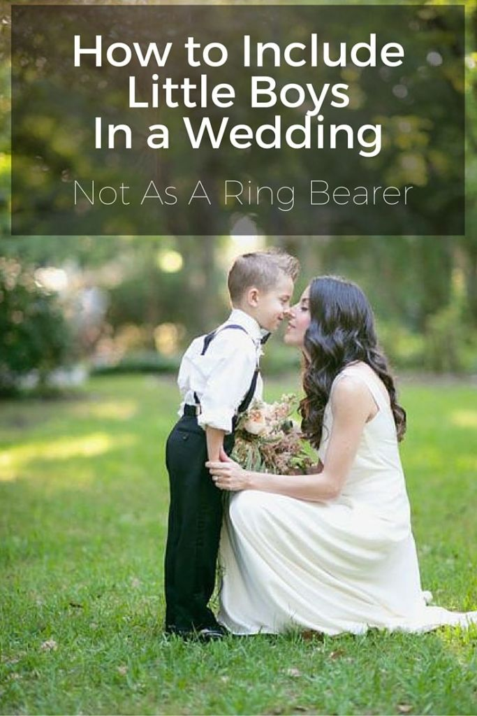 include little boys in wedding