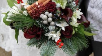 Christmas Wedding Bridal Bouquet
