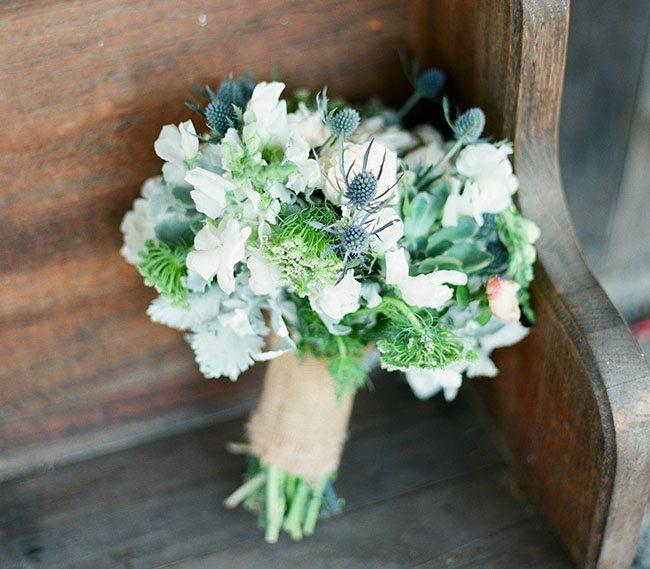 Blue Bridal Bouquets