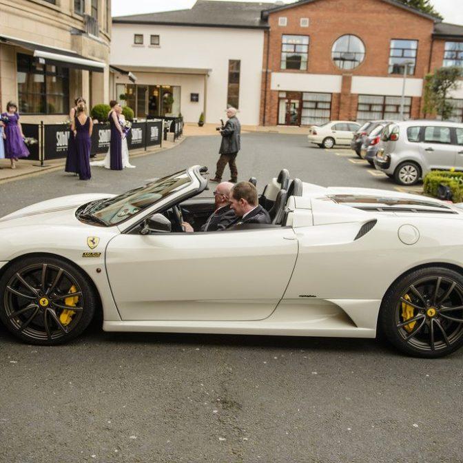 wedding sports car