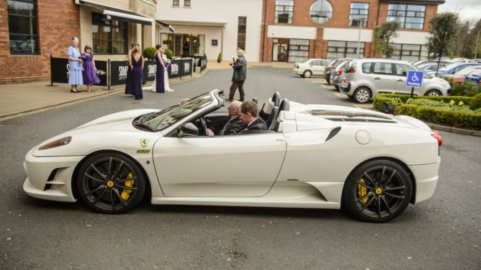 wedding sports car