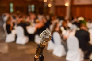 Microphone for wedding speeches at reception