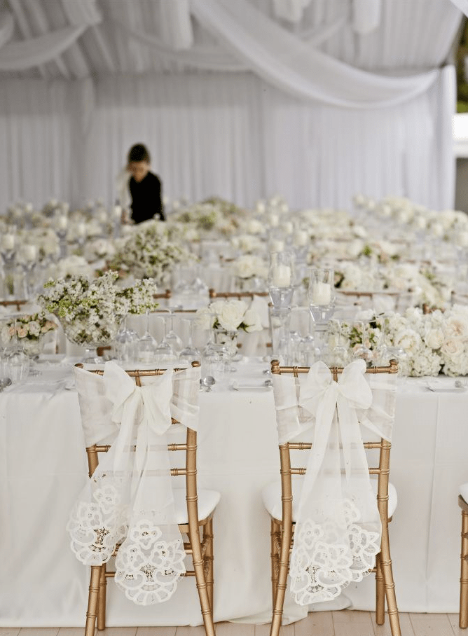 All White Winter Wedding Theme