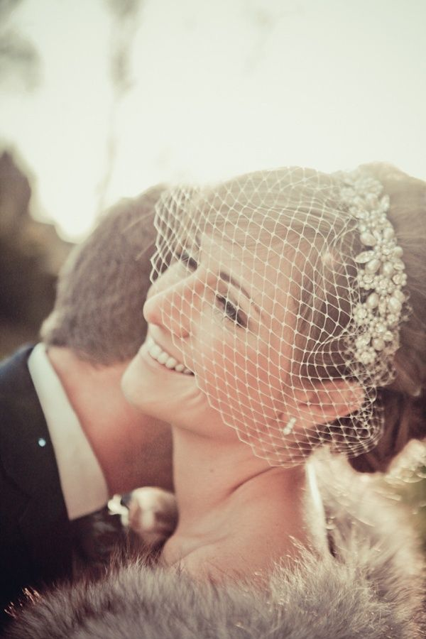 birdcage veil beach wedding