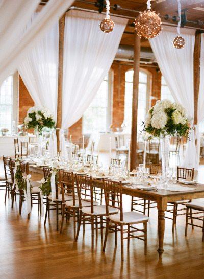 Winter Wedding Reception