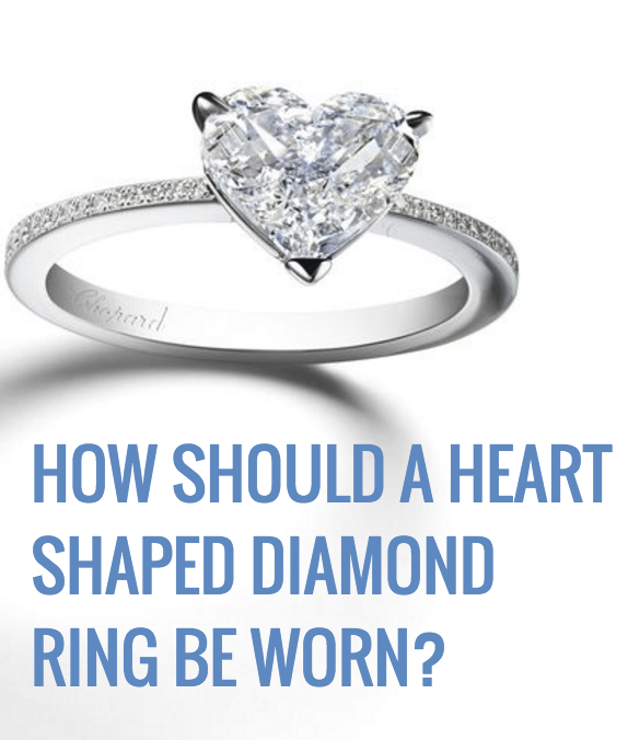 how should heart shaped diamon be worn