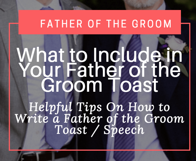 How To Write A Father Of The Groom Toast / Speech