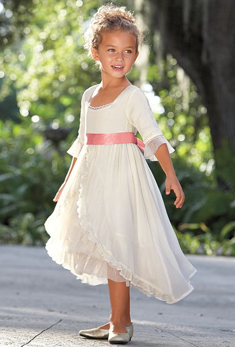 Valentine 39 s day inspired flower girl dresses for Casual flower girl dresses for beach wedding