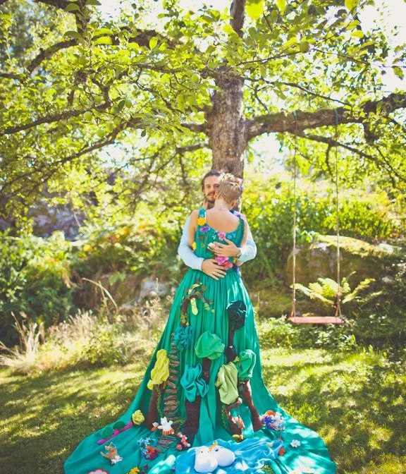 Colorful Alternative Wedding Gown