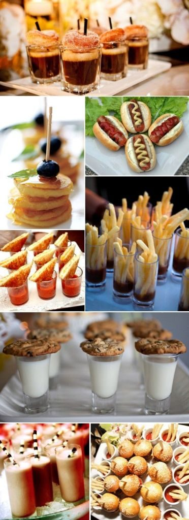 open reception food