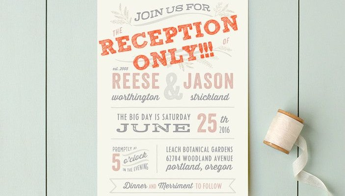 Post-Elopement Reception. Wording The Invitations | | TopWeddingQuestions.com