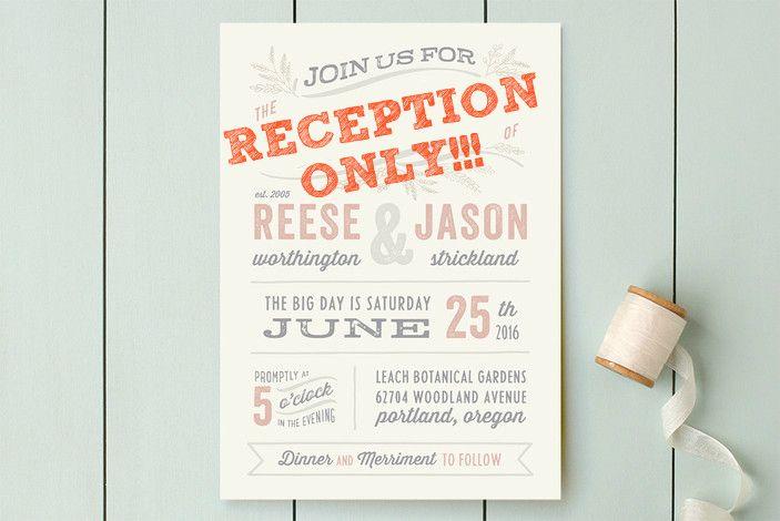 Post Wedding Invitations Reception: Post-Elopement Reception. Wording The Invitations