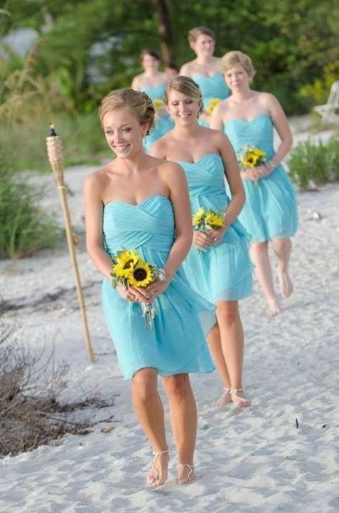 sunflower bridal bouquet what color bridesmaid dress With sunflower wedding bridesmaid dresses