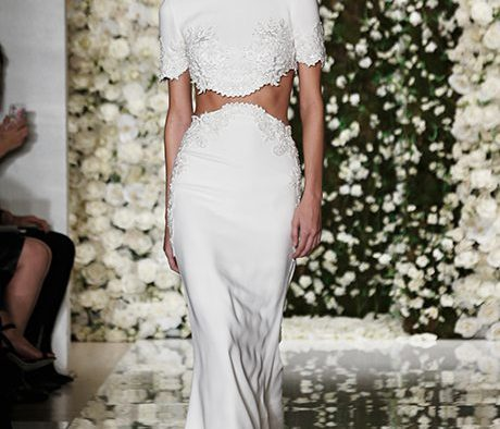 Midriff Baring Wedding Gowns