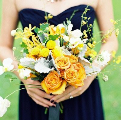 Yellow Bridal Bouquet
