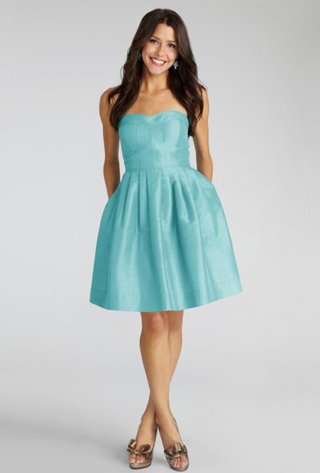 Aqua Bridesmaids Dresses