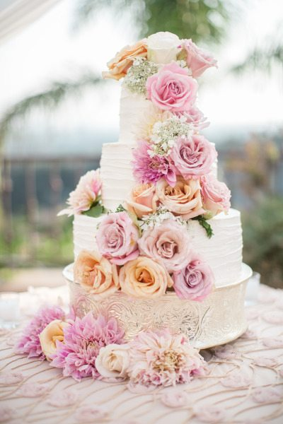 A Floral wedding cake