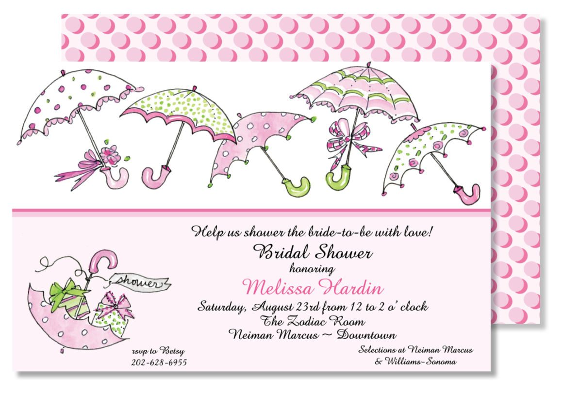 Shower Time Bridal Invitations