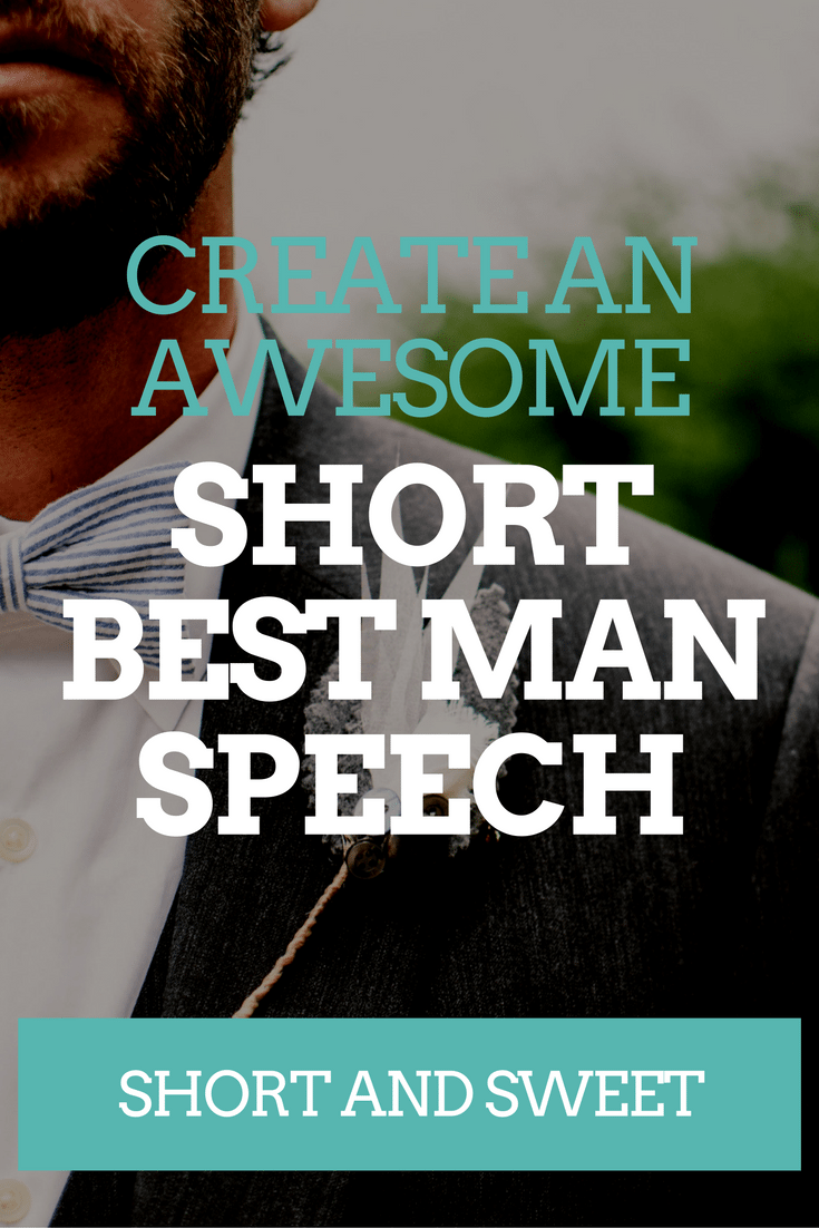 SHORT BEST MAN SPEECH