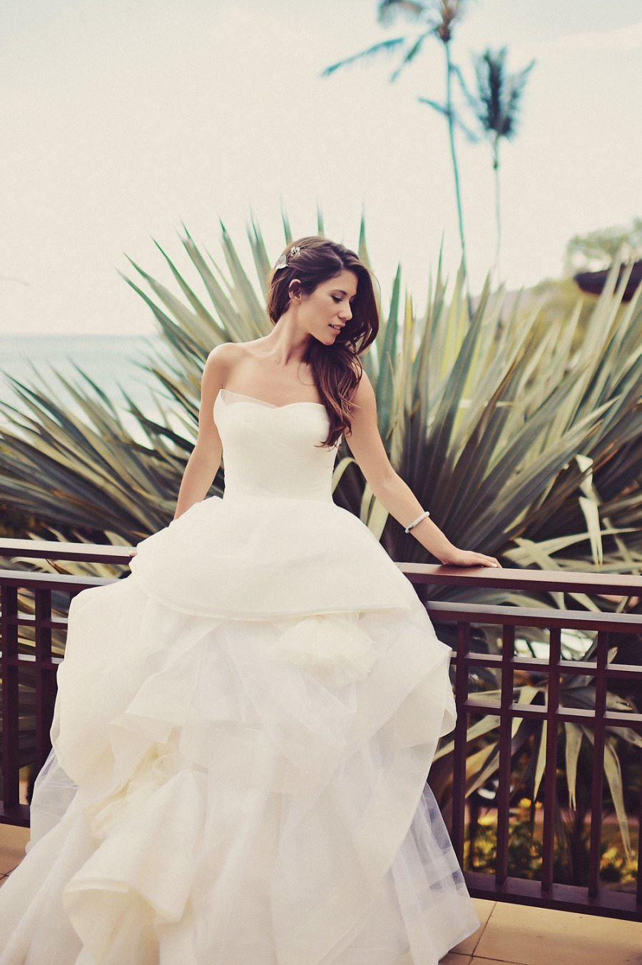 Outdoor Summertime Wedding Ball Gown