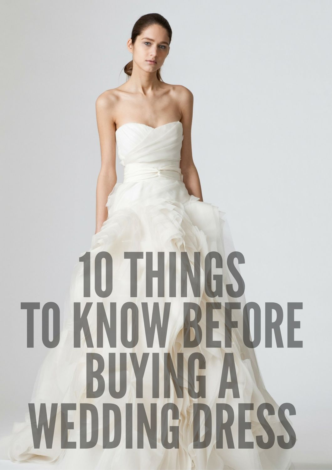 things to know before wedding dress shopping