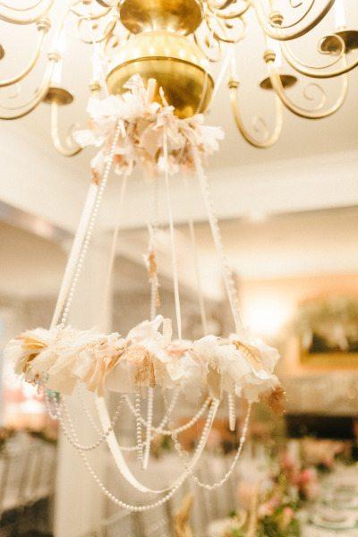 wedding reception lighting chandelier