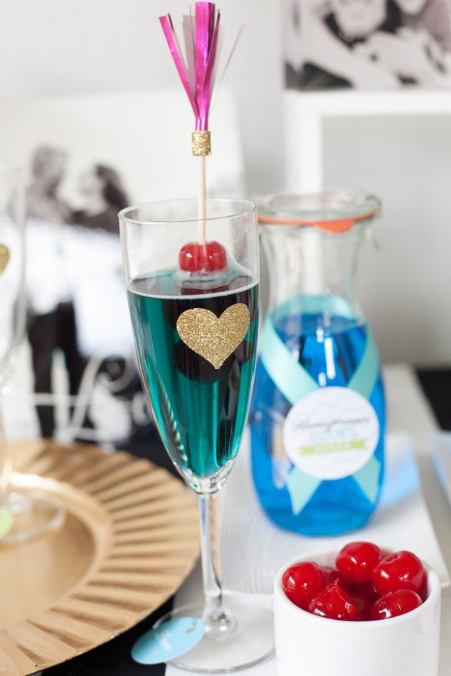 Champagne-Bar-Engagement-Party-Blue-Drink-634x951