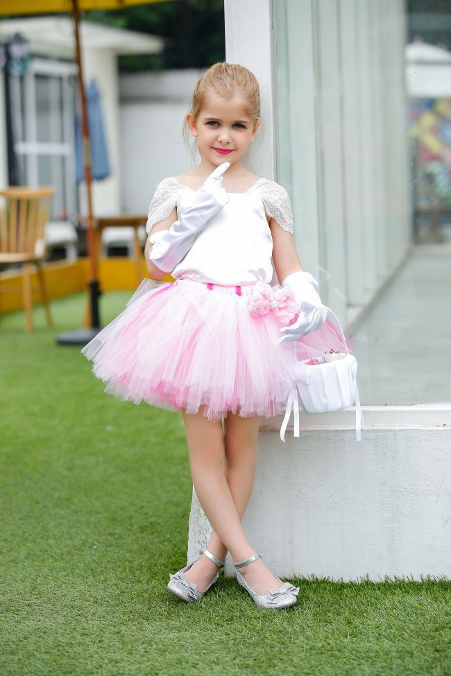 Pincess-Pink-Flower-Girl-dresses-with-Satin-Bodice-Lace-Straps-Girls-Tutu-Dresses-with-Bow-Flower