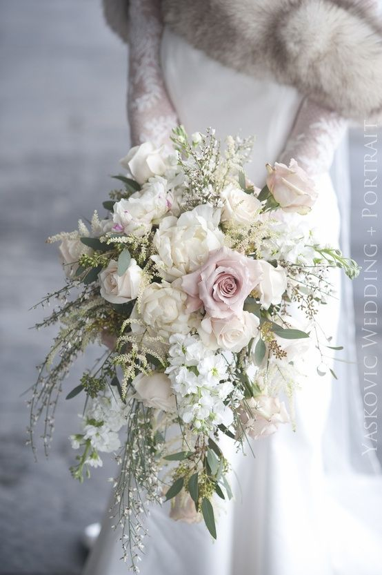 Cascading Bouquets Full of Whimsy, Romance and Bridal Style ...