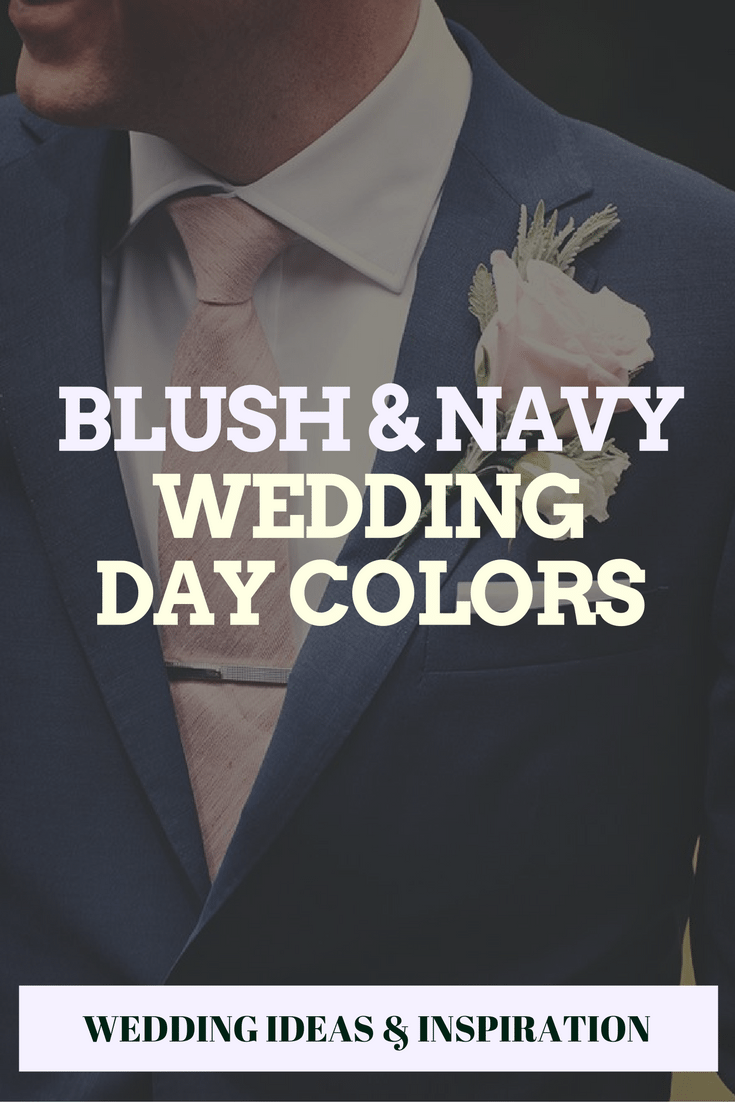 blush and navy wedding day colors