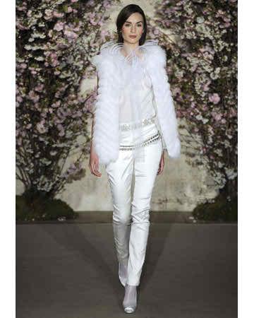 2012 designer wedding tuxedo for brides - Oscar de la Renta