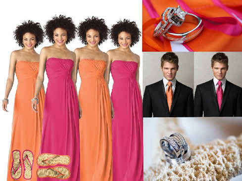 3 color combos for the bridal day