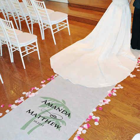 perfect beach wedding-wedding aisle