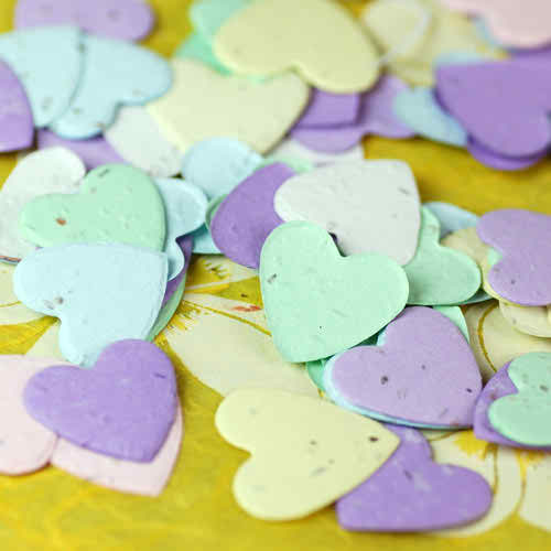 5 steps in having an eco friendly wedding - eco plantable heart shaped confetti