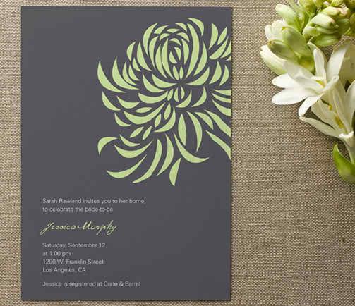 5 steps in having an eco friendly wedding - eco friendly bridal shower invitation