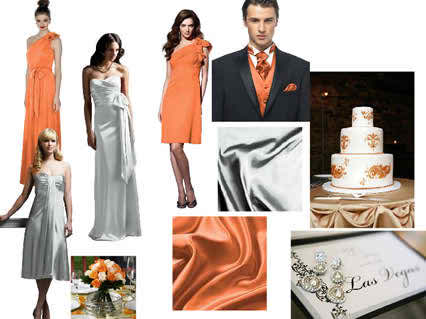 Color ideas for the bridal day