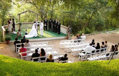 A church or an outdoor venue for my wedding ceremony
