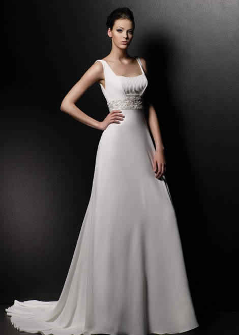 White wedding dress - white dress for a flawless image