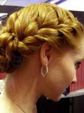 Bridal updo braids
