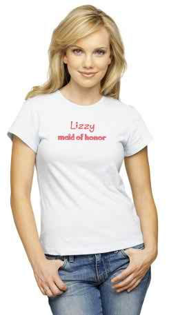 Buy personalized T-shirts for your rehearsal dinner