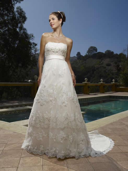 Casablanca strapless wedding dresses 2