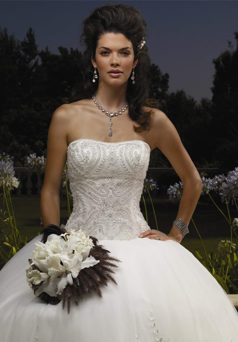 Casablanca strapless wedding dresses 3